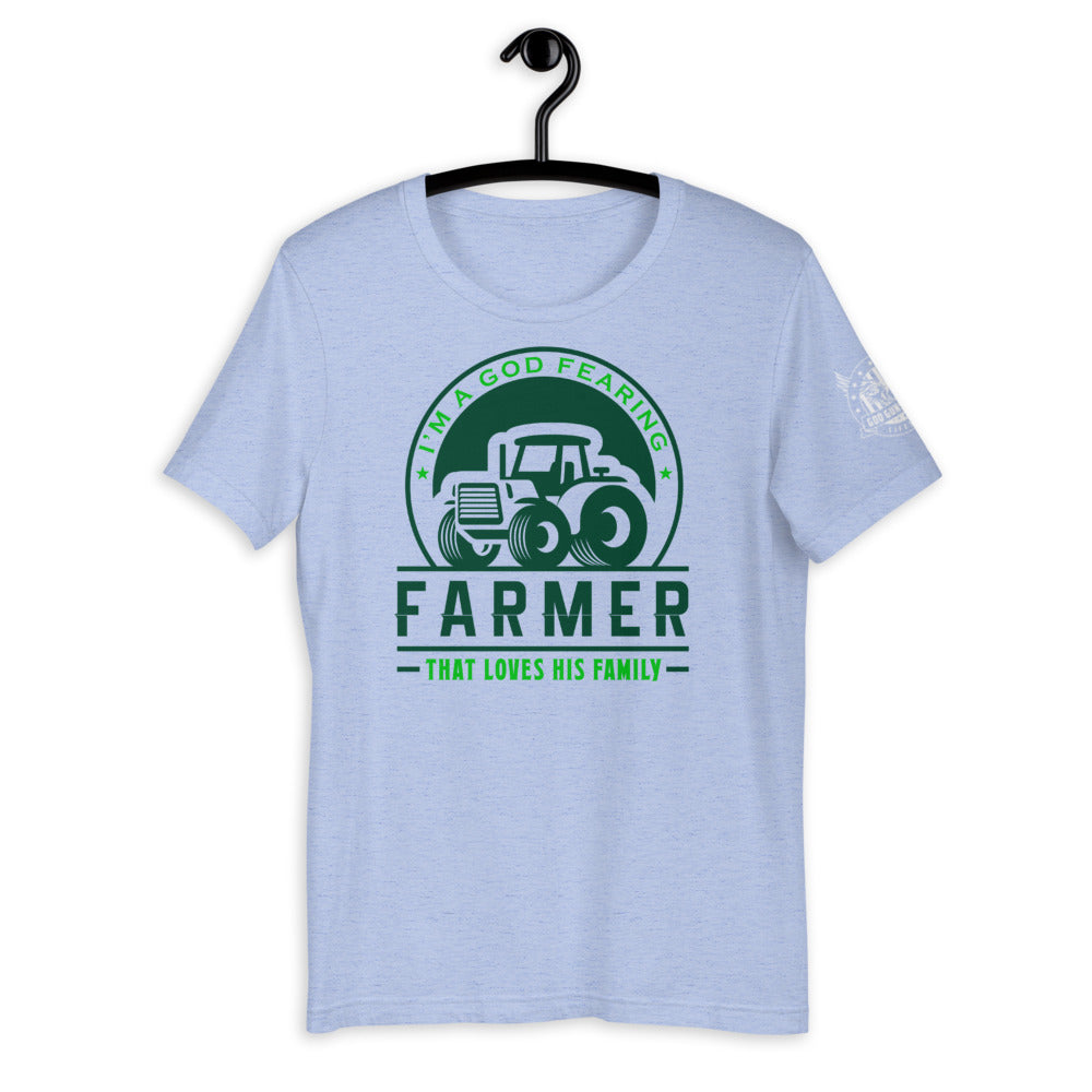 I Am A God Fearing Farmer Short-Sleeve Unisex T-Shirt