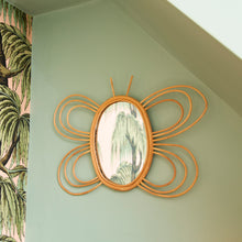 Load image into Gallery viewer, Rattan Butterfly Mirror