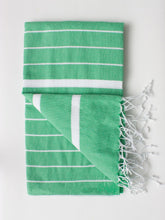 Load image into Gallery viewer, Ibiza Summer Hammam Towel - Grass Green