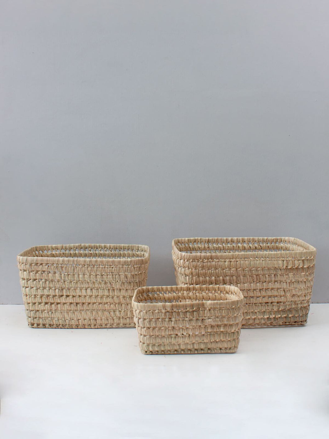 Open Weave Storage Boxes, Set of 3