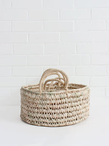 Round Open Weave Baskets - Set of 3