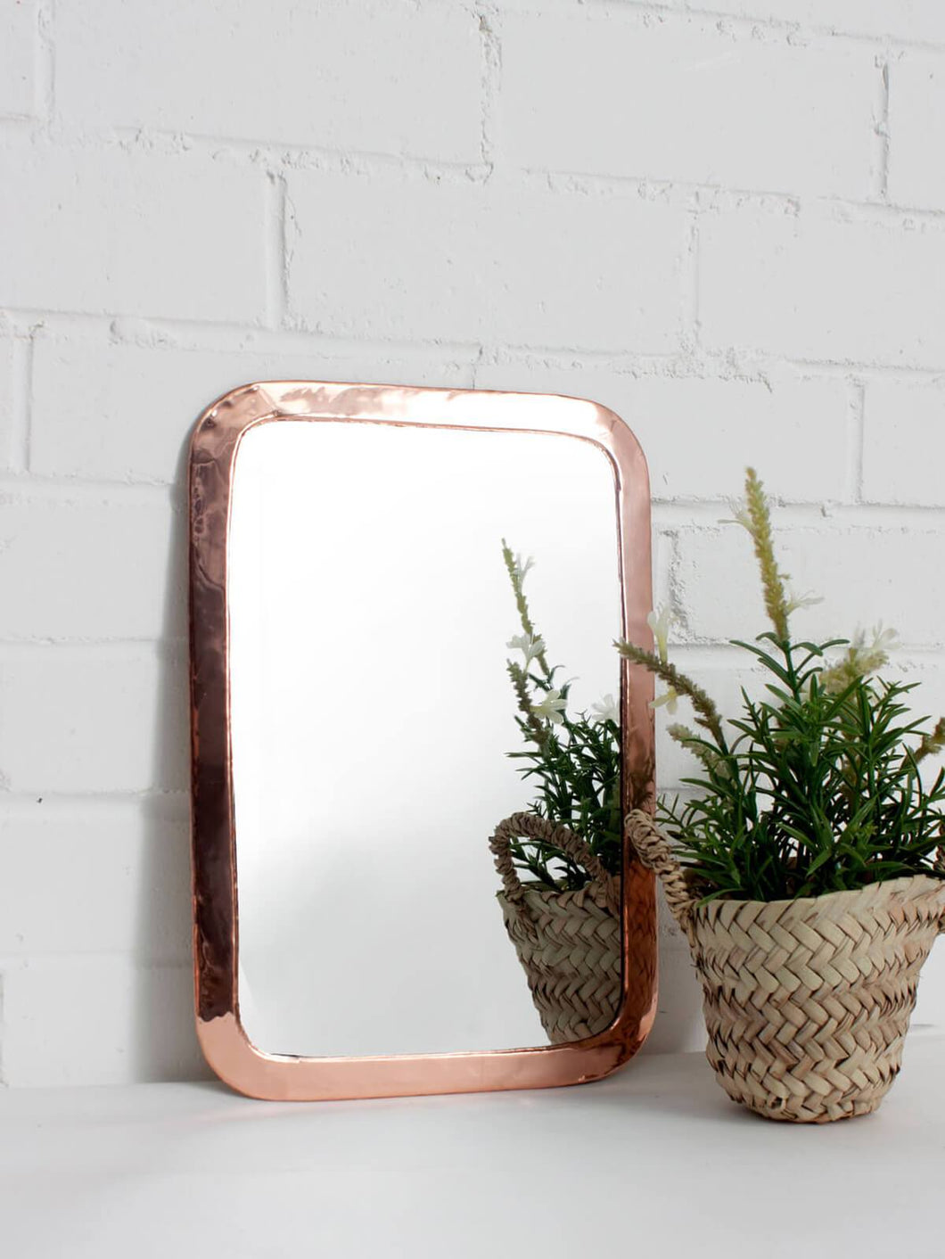 Moroccan Rounded Rectangle Mirror - Rose