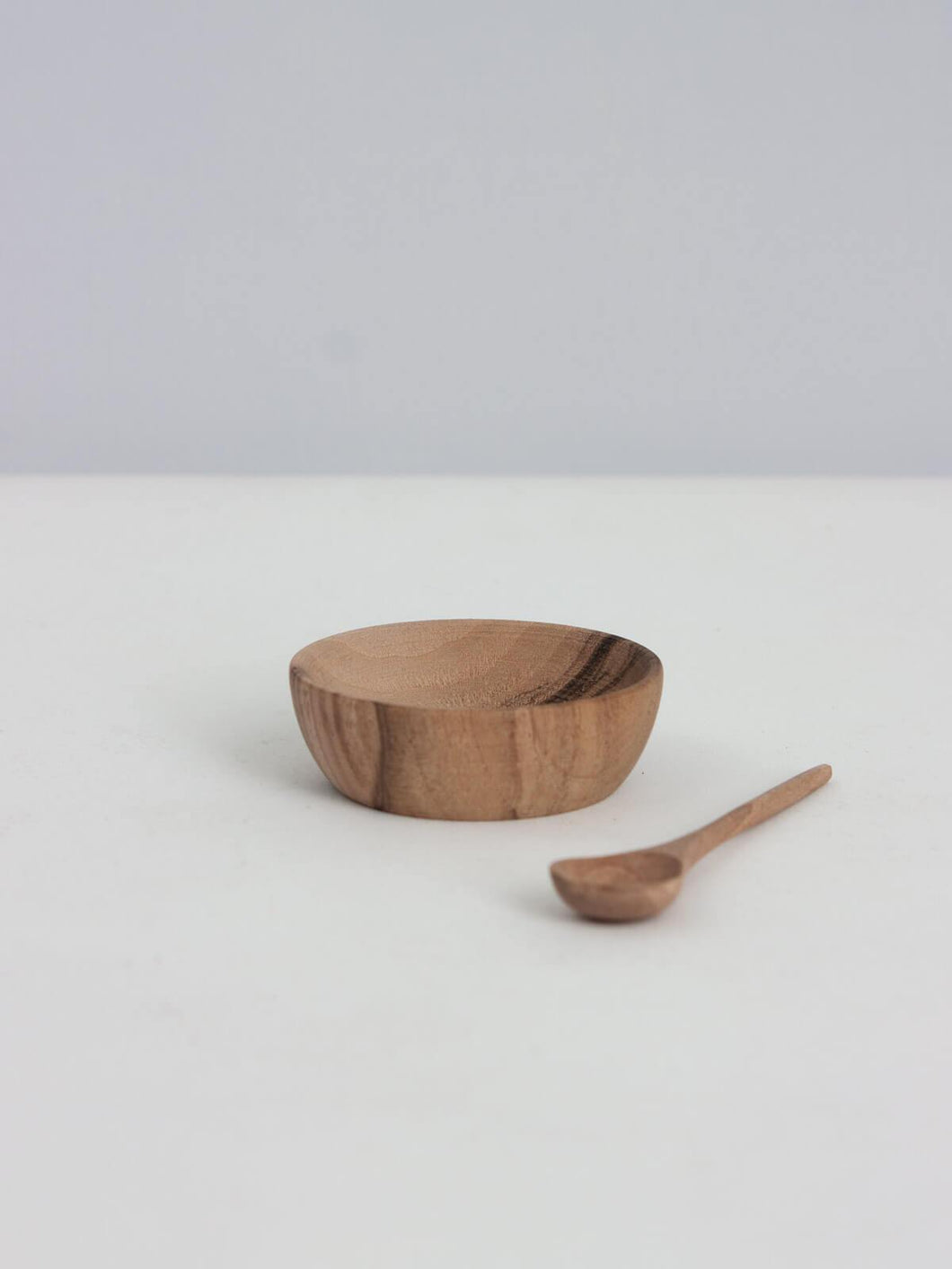 Walnut Wood Spice Bowl & Spoon