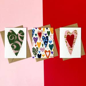 Pack of 3 'Love' Cards