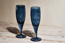 Load image into Gallery viewer, Yala Hammered Champagne Glass - Indigo