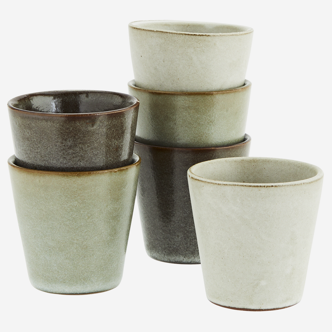 Stoneware Cup Set of 6