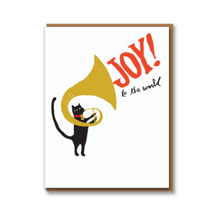 Tuba Cat Joy Card, Pack of 8