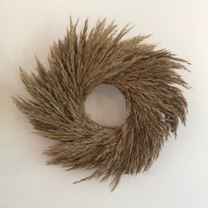 Natal Grass Wreath - Natural