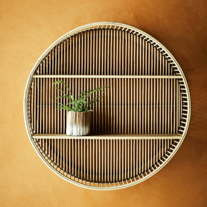 Bamboo Round Shelf