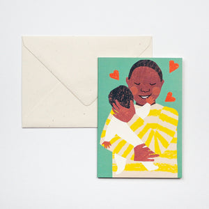 New Baby Cuddle Card - Male