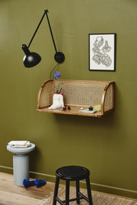 Merge Wall Table with Rattan