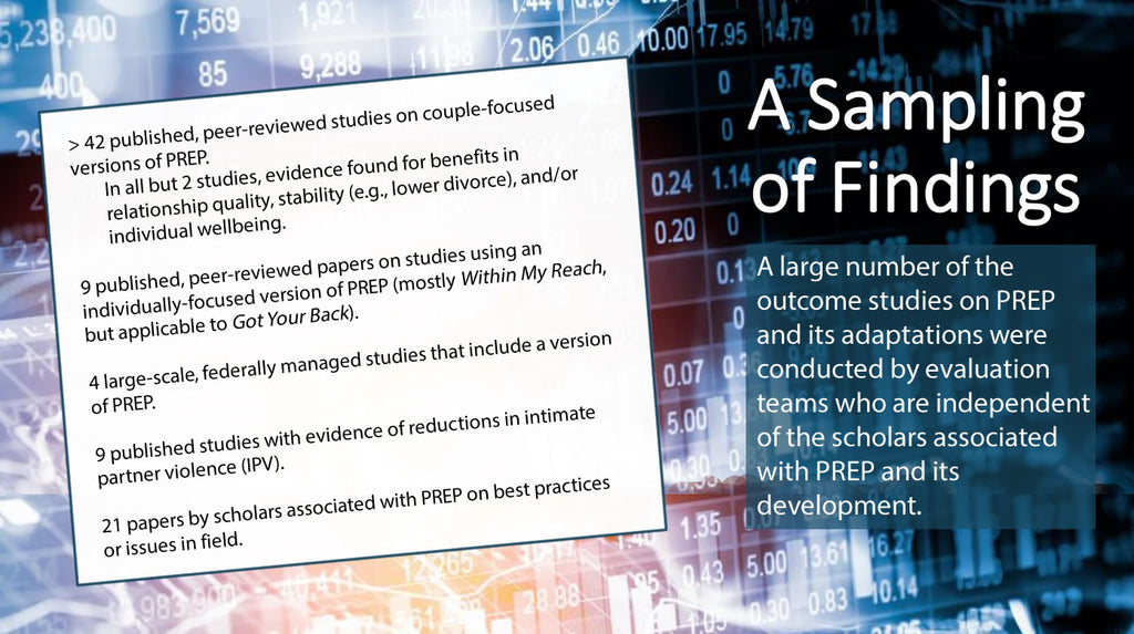 Overview of PREP findings