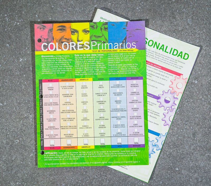 Spanish PREP Participant Manual includes Spanish Personality Tool
