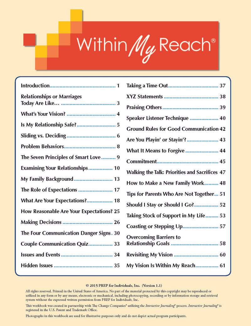 Within My Reach Participant Manual