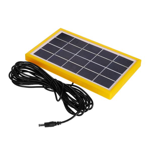 New Solar Panel Power Generator Kit 5V USB Charger Home Outdoor System with 2 LED Bulbs Light
