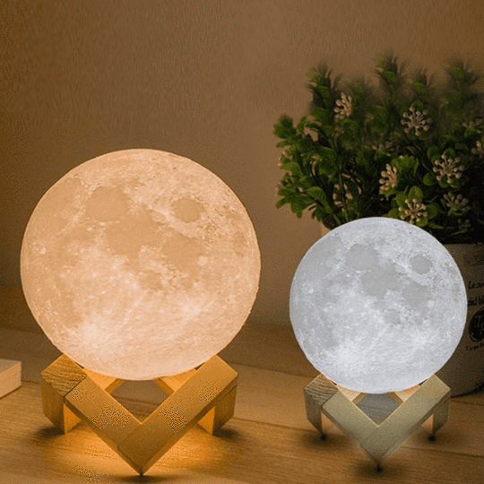3D LED Mystical Moon Lamp Changing Colors