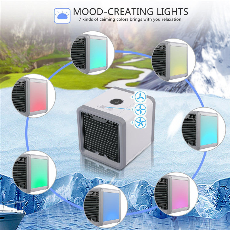Small Portable USB Air Conditioner with 7 Colors - Pixie Gears