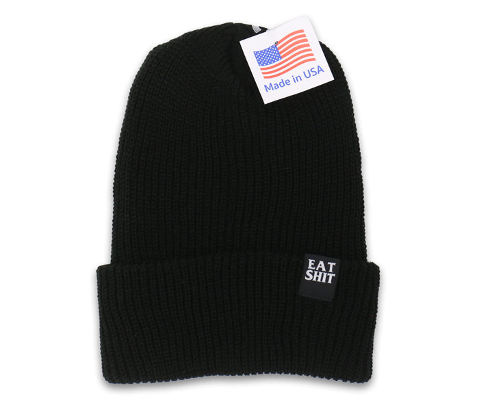 Eat Shit Black Beanie