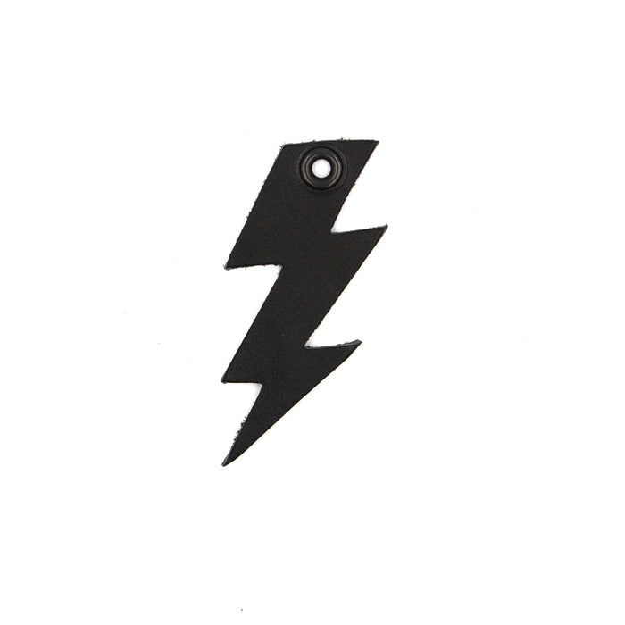 Murdered Out Lightning Bolt Keychain Charm