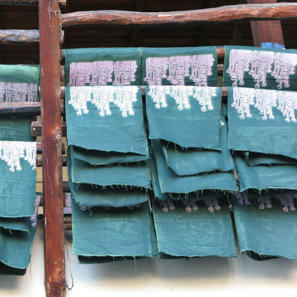 Our fabrics drying in our artisans atelier in Tokat, Turkey.
