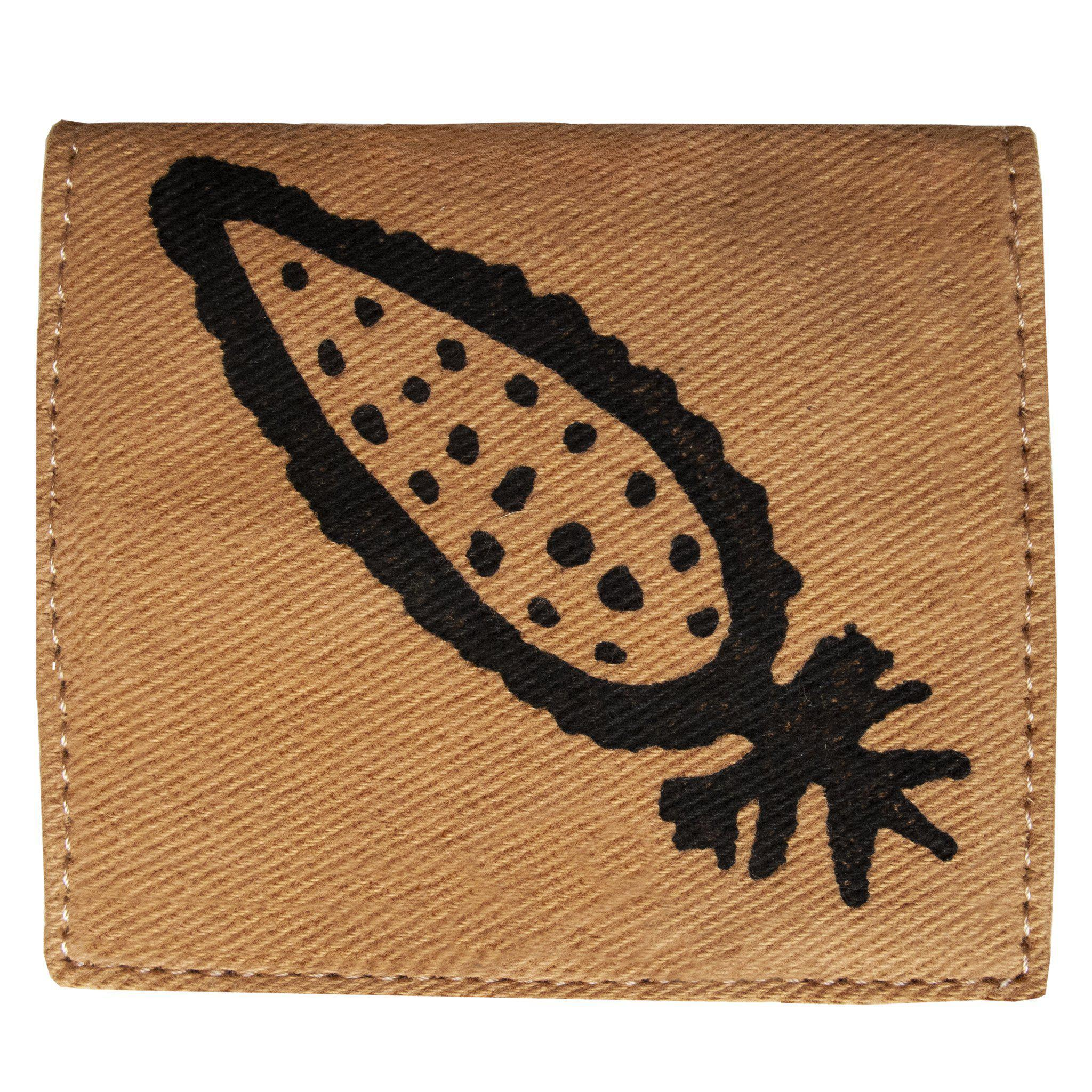 Brown 'Corn' cardholder, wallet - Devrim Studio