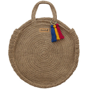 Handwoven Hemp Moon Bag Handbags-Devrim Studio