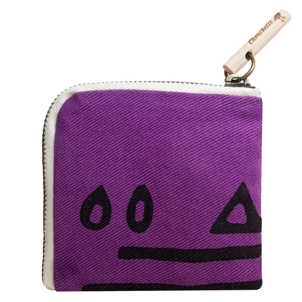 Purple Hazelnut slim wallet, purse-Devrim Studio