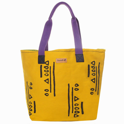 Yellow Hazelnut Urbanite Tote Bag-Devrim Studio