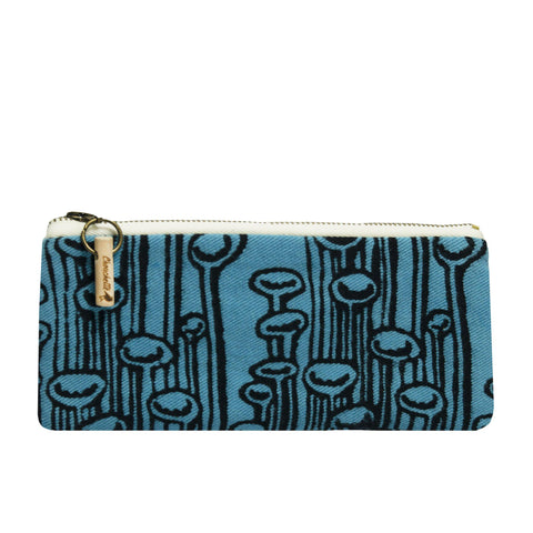Blue pencil case, cosmetic pouch, pencil pouch - Devrim Studio