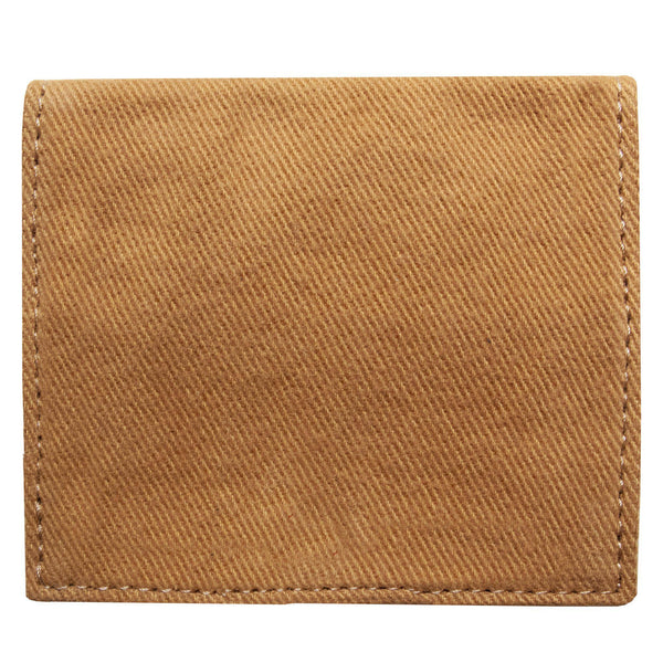 Back of the brown, bifold cardholder, wallet by Devrim Studio