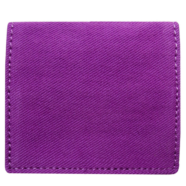 Back of the purple cardholder, wallet - Devrim Studio