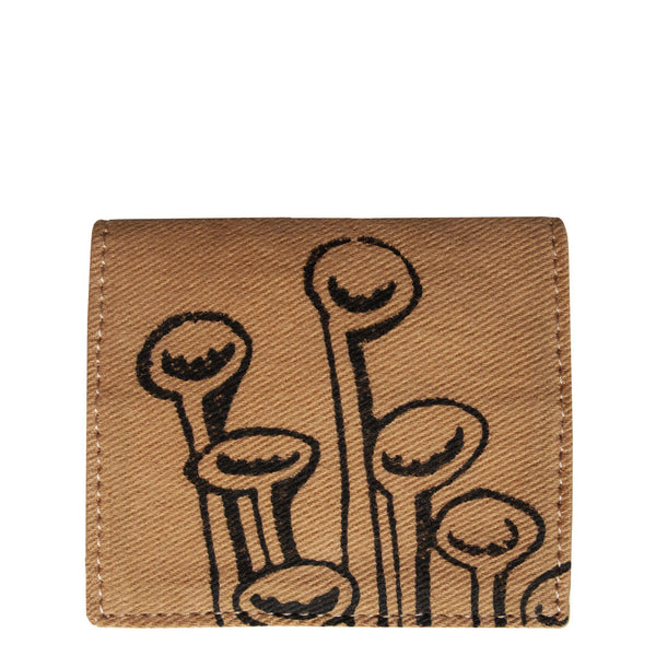 Brown Stuck To The Floor - Bifold cardholder, wallet by Devrim Studio