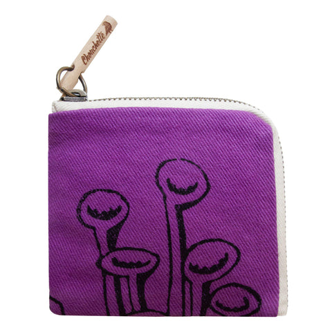 Purple 'Stuck to the floor' Wallet, purse - Devrim Studio