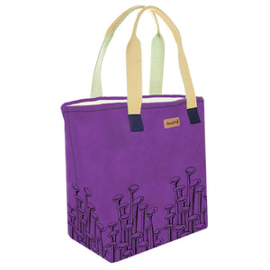 Purple 'Stuck to the Floor' Tote Bag - Devrim Studio