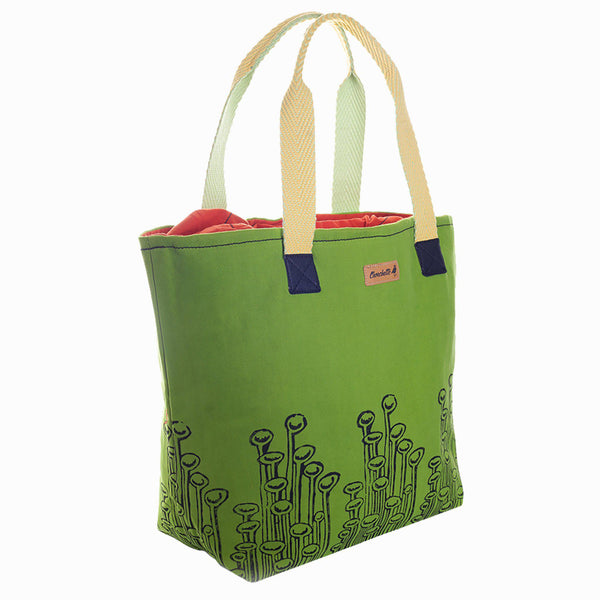 Green 'Stuck to the Floor' Tote Bag - Devrim Studio