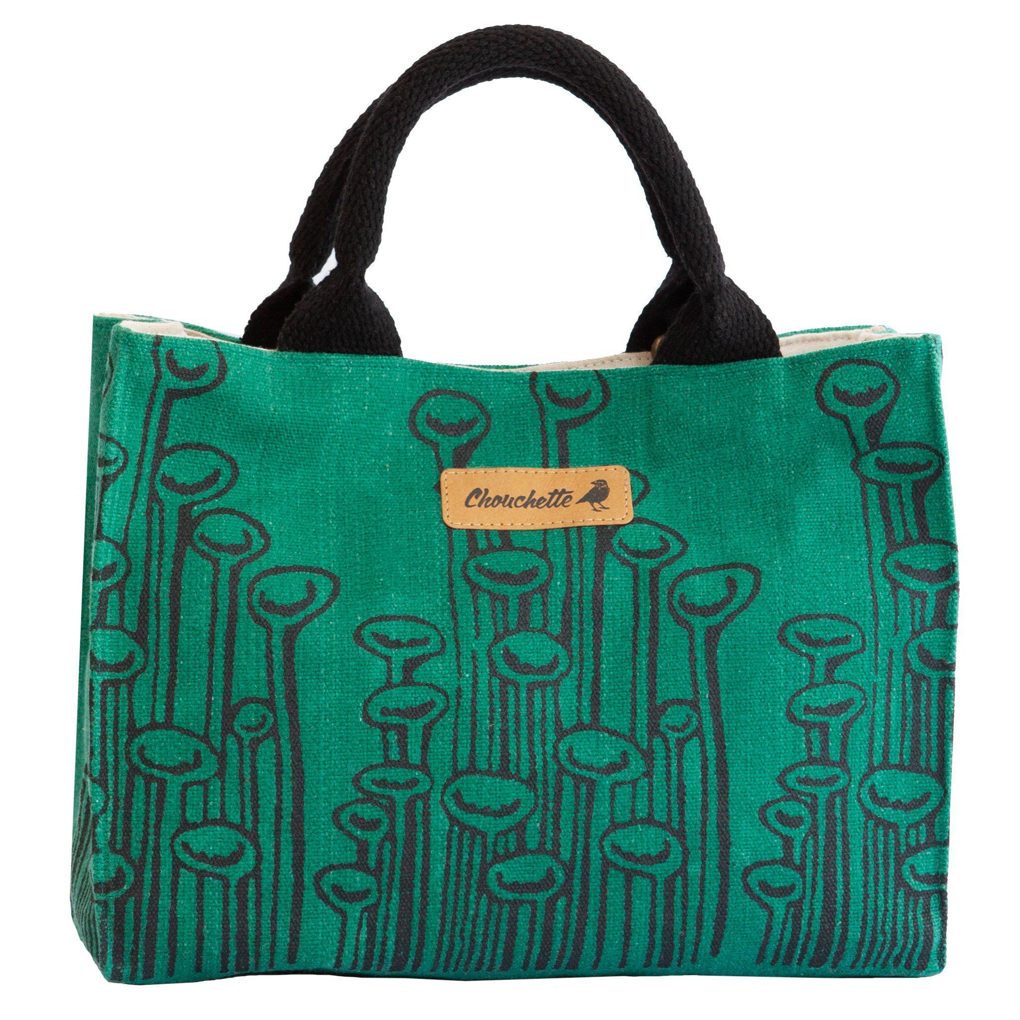Green 'Stuck to the Floor' waxed canvas shoulder bag, crossbody bag - Devrim Studio