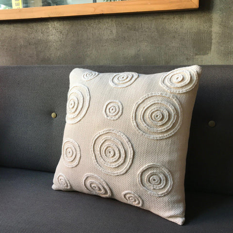'Time' Handwoven Accent Pillow-Devrim Studio