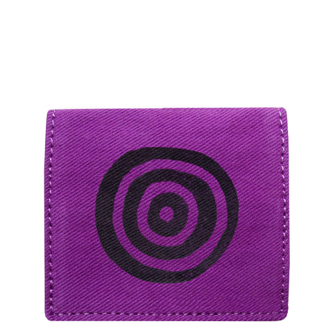 Purple 'Time' Bifold Cardholder Wallet - Devrim Studio