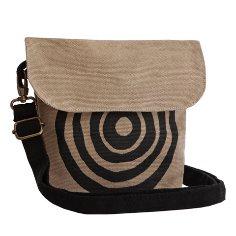 Beige 'Time' fanny pack that converts into a crossbody bag or a shoulder bag - Devrim Studio