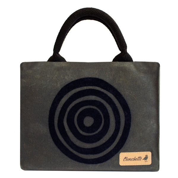 Green 'Time' Waxed Canvas Mini Tote Bag - Devrim Studio