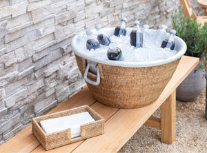 Our placemats, thermos, coasters, chargers, ice tubs, basket, napkin holders, guest towel holders, and napkin rings will help you show off your decorations with ease and class and will add beauty and function to your life.