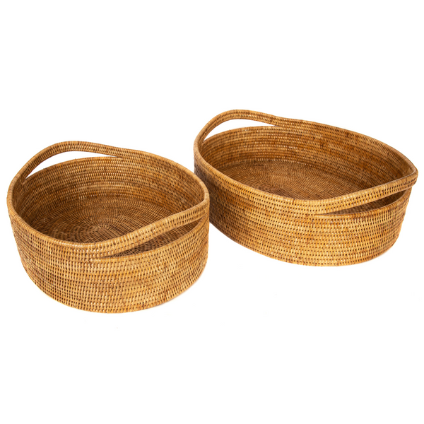 2 Piece Oval Basket Set