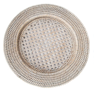 Open Weave Chargers White Wash