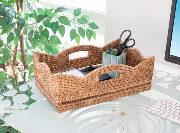 Scallop Collection Rectangle Basket