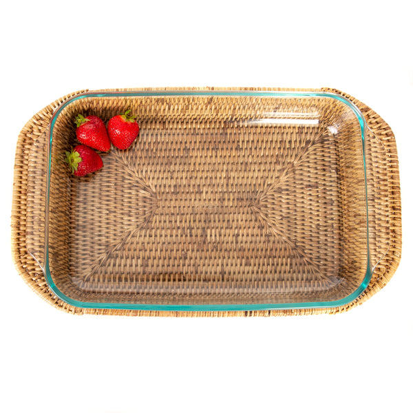 Rectangular baker with pyrex
