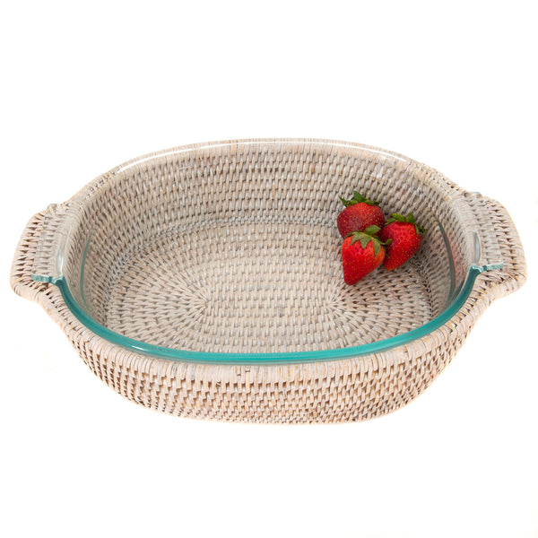 Oval Baker Basket with Pyrex