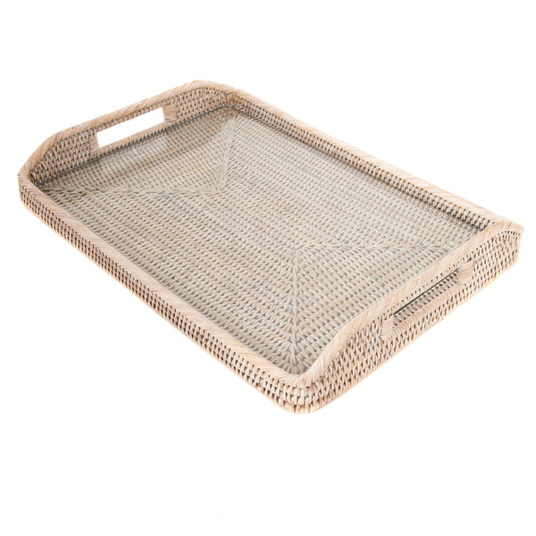 14-Inch Rectangular Tray with Glass Insert