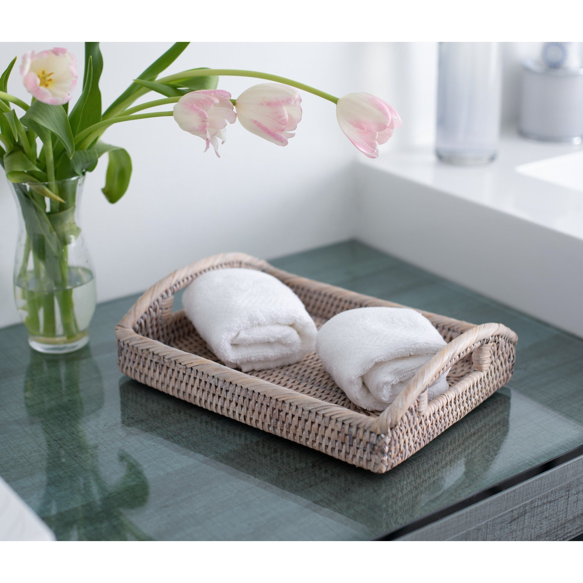 Rectangular Vanity Tray, High Handles