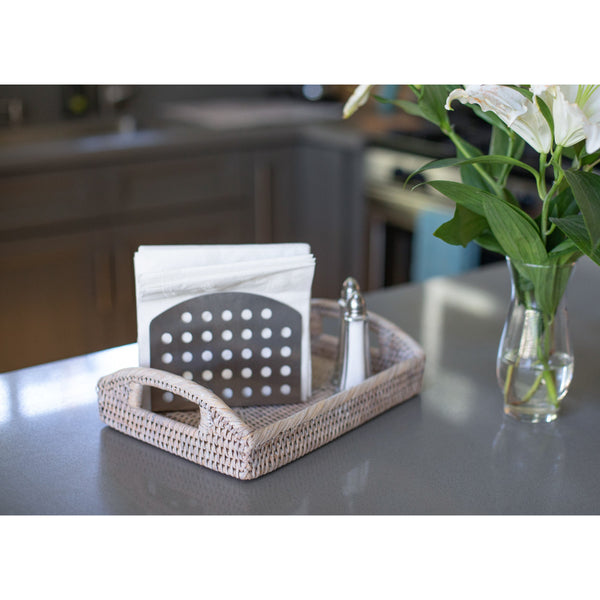Rectangular Vanity Tray With High Handles