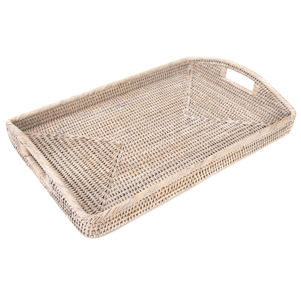 21-Inch Rectangular Tray with Glass Insert